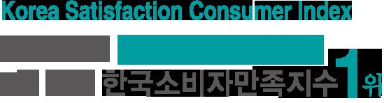 2019 2년 연속 한국소비자만족지수 1위